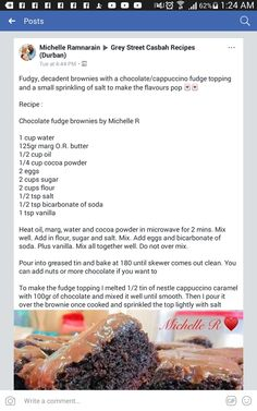 Baking Recipes, Cake Recipes, Dessert Recipes, White Brownies, Brownie Trifle, South African Recipes, Lunch Snacks, Bakeries, Pudding Recipes