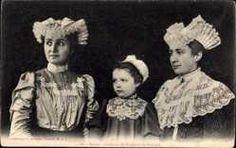 Postcard Anjou, Coiffures de Candé et de Pouancé, Frauen in Trachten