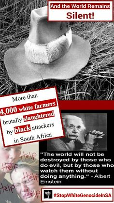 """Upwards of 74 000 whites butchered since an alleged slow-motion genocide conveniently hidden in the General Crime body-bag of a crime riddled """"rainbow"""" nation. Africa News, New Africa, South Africa, White Privilege, New Farm, Pretoria, Eye Shadows, Bakeries, Political News"""