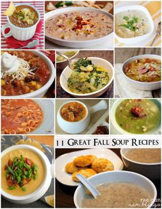 Delicious Easy Fall soup recipe round up - Rae Gun Ramblings (Soup Recipes For Fall) Fall Soup Recipes, Crockpot Recipes, Healthy Recipes, Food Obsession, Soup And Salad, Favorite Recipes, Cooking, Gun, Tomato Bisque
