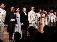 The cast of HAMILTON takes their bows on opening night!
