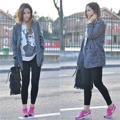 Pink Sneakers (by Crris LoveShoppingandFashion) http://lookbook.nu/look/4466773-Pink-Sneakers