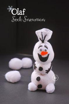 ATELIER CHERRY: Olaf de meia - Festa Frozen