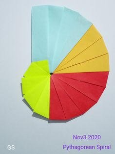 Pythagorean Spiral, Math 8, Paper Folding, Origami Paper