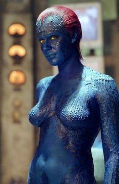 Rebecca Romijn as Mystique in X2: X-Men United.