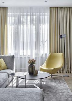 Эта современная квартира от дизайнера Александры Федоровой расположена на 18 этаже московского небоскреба