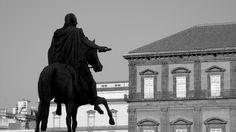 Napoli, Piazza del Plebiscito; re Ferdinando