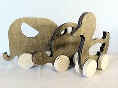 Set of 3 Wooden Animal Toys by modernarks on Etsy, $59.99