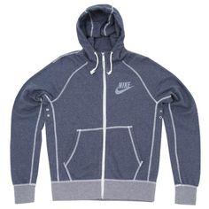 Nike AW77 Vintage Marl Logo FZ Hoody (Monsoon Blue Heather)