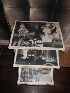 Decoupage Marilyn Nesting Tables