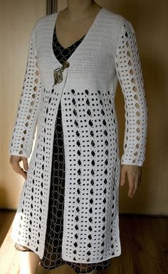 mezginiai ir neriniai – Alina Norkuviene – Picasa tīmekļa albumi Gilet Crochet, Crochet Blouse, Knit Crochet, Long Vests, Wedding Art, Crochet Fashion, Crochet Clothes, Knitting, Crochet Dresses