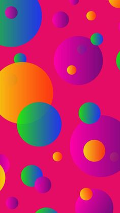 By Artist Unknown. By Artist Unknown. Bubbles Wallpaper, Pink Wallpaper, Colorful Wallpaper, Screen Wallpaper, Cool Wallpaper, Mobile Wallpaper, Wallpaper Backgrounds, Colorful Backgrounds, Wallpaper Notebook
