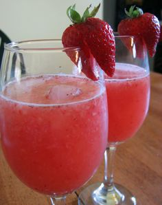 Strawberry Wine Cooler