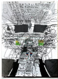 Editorial illustration for the Aircraft Owners and Pilots Magazine. Photography Illustration, Illustration Art, Neo Expressionism, Still Life Drawing, Urban Landscape, Vector Graphics, Sketchbooks, Uni, City Photo