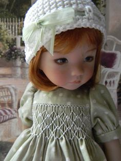 "Pretty Smocked Dress for Effner Little Darling 13"" Doll by LKB 