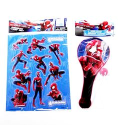 MARVELS AMAZING SPIDERMAN Children RAISED STICKERS & PADDLE BALL Lot 2 @ niftywarehouse.com #NiftyWarehouse #Nerd #Geek #Entertainment #TV #Products