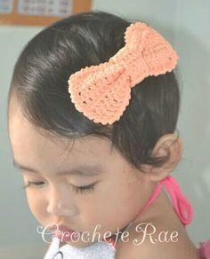 Crochet baby hairbow