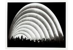Hollywood Bowl Orchestra At Night, 1937, artist unknown. Archival photograph; (299 from Rita Wilson/ AM/FM on OKL; retails 345)