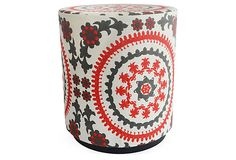 Suzy Pouf, Navy/Red/White on OneKingsLane.com