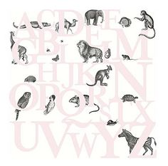 ABC You Wall Panel A lovely children's alphabet wall panel in pink.
