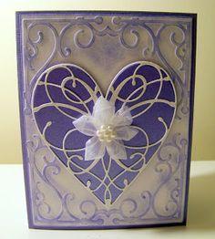 Ann Greenspan's Crafts - Memory Box die La Rue Heart