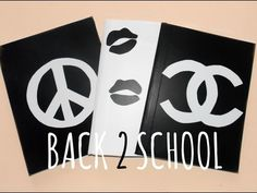 DIY Back ➁ School Customized Notebooks