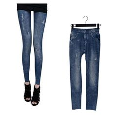 New Fashion Women's Lady Jeggings Stretch Skinny Leggings Tights Pencil Pants Jeans