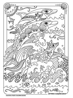 Fanciful Foxes Has 31 Illustrations For You To Color With Beautifully Adorned Drawn As Portraits And In Themed Settings