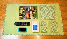 Tutorial for making pockets to store books in for side of bed