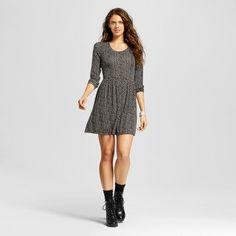 www.target.com p women-s-knit-fit-flare-dress-black-xhilaration-juniors - A-51415167