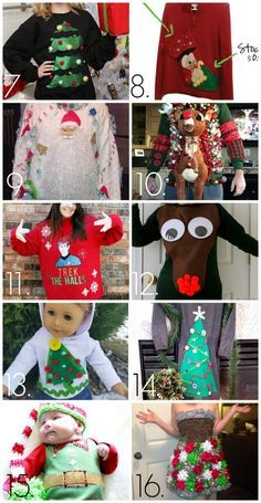 Check out these wonderfully tacky Christmas sweaters! For more Christmas sweaters and party ideas visit My Ugly Christmas Sweater at http://www.MyUglyChristmasSweater.com!