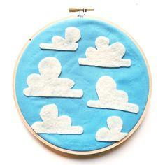 DIY: Toy Story Embroidered Hoop Art | Disney Pixar craft | Andy's room wallpaper art | [ http://di.sn/6005Bfkwt ]