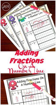 These three FREE worksheets will help your students with adding fractions with unlike denominators on a number line. 4th Grade Fractions, Teaching Fractions, Fractions Worksheets, Free Worksheets, 3rd Grade Math, Teaching Math, Third Grade, Add Fractions With Unlike Denominators, Adding Fractions