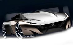 Original #Peugeot #Onyx concept sketch by Sandeep Bhambra. Exclusive video here > https://youtu.be/WCqQzQX3aCE