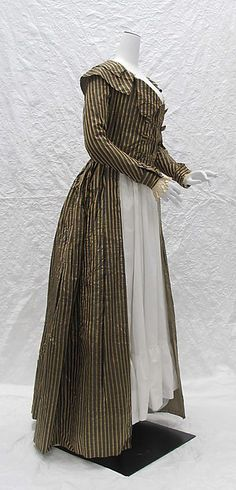 ca. 1787 Redingote, silk;probably French. (side)