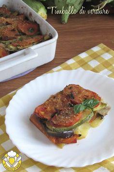 v_ timballo di verdure tutto a crudo ricetta vegana sformato di patate peperoni melanzane zucchine pomodori il chicco di mais Pork, Meat, Kale Stir Fry, Pork Chops