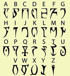 alfabetos daedrico - Buscar con Google