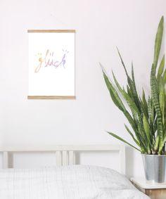 #glück #lettering #handlettering #rainbow #regenbogen #rosa #pastell #posters #wandbilder #wandbild #druck #kunstdruck #schlafzimmerdekoration