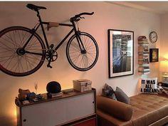 Bicycle Wall Mount Lift Pro - Automatic Cycle Lift and Hanging Wall Rack Bicycle Hanger, Wall Mount Bike Rack, Bike Mount, Range Velo, Bike Shelf, Wood Bike, Bicycle Storage, Bike Storage Bedroom, Decorative Wall Hooks