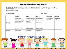 #spedchat Awesome Freebie! Daily Behavior Tracker. Here's something that's ready to go! Use this chart that will help you track any type of behavior on a daily basis. This is an editable word document which you can modify to suit the needs of your student, or align it to his BIP goals.