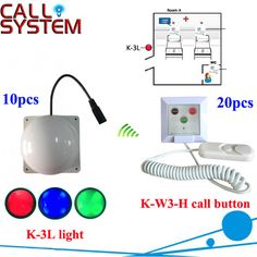Nursing house patient calling system 10 corridor light with 20 room bell buzzer wireless equipment #Affiliate