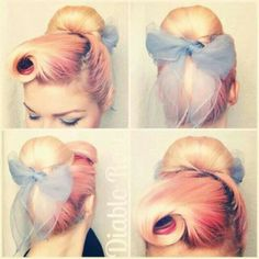 Cute pinup hairstyle
