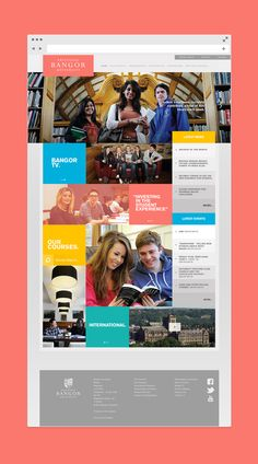 Bangor University Website by Andrew Last, via Behance