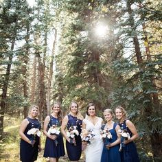 A gorgeous bridal party in the most beautiful location... you won't want to miss this Colorado wedding!! Visit the link in our profile and click this image to see the whole event. Photo by @katie_kay by budgetsavvybride