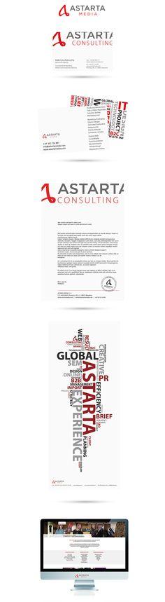 Фирменный стиль для «Astarta Media» - Разработка фирменного стиля и презентационного баннера для для рекламной компании в Испании «AstartaMedia»