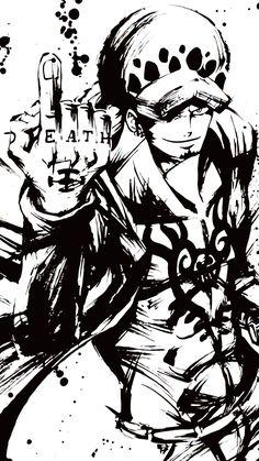 Dragon Ball Z Blut von Saiyajin - Goku mit Box - One Piece - Anime One Piece Manga, Law One Piece, One Piece Drawing, Zoro One Piece, Trafalgar D Water Law, One Piece Tattoos, Pieces Tattoo, One Piece Pictures, Ink Drawings
