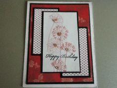 Design papier en bloemen stempel