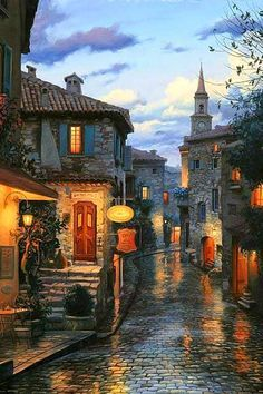 Eze ~ a tiny village in Provence, and one of the gems in southern France. A medieval hilltop town with an ocre cathedral and stately clock tower.