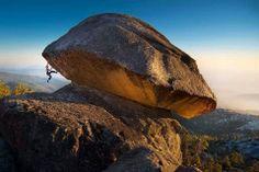Mushroom cap boulder