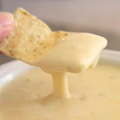 "Mexican White Cheese Dip/Sauce | ""There are restaurants I go to only because I love their queso and I've never been able to replicate the creamy spicy dip. Who knew it was so easy! I used the grocery store brand of American cheese and it was perfect. Thanks for this great treat!"""